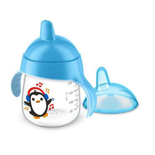 Copo Pinguim 260ml Azul Philips Avent