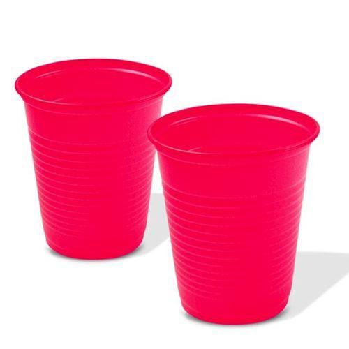 Copo Plástico 200ml C/ 50 Unidades Pink