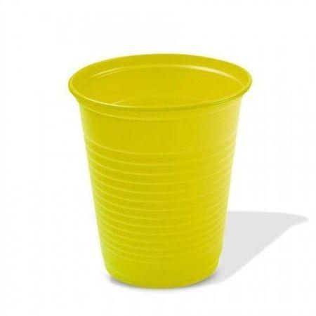 Copo Plástico Descartável Amarelo 200ml - 50 Unidades