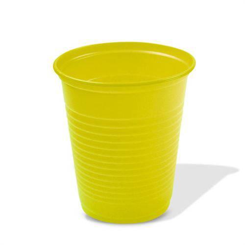 Copo Plástico Descartável Amarelo 200ml 50 Unidades