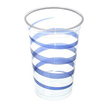 Copo Plástico Descartável Mania Azul 300ml - 30 Unidades