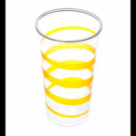 Copo Plástico Mania Amarelo 300ml Copo Plástico Descartável Mania Amarelo 300ml - 30 Unidades