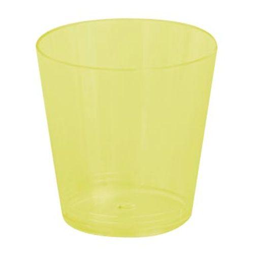 Copo Plástico Reforçado Plastilânia 25ml Amarelo - 10 Unidades 1012205