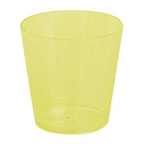 Copo Plástico Reforçado Plastilânia 25ml Amarelo - 10 Unidades