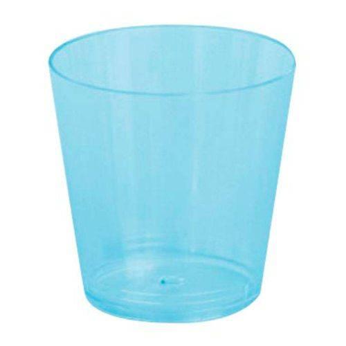 Copo Plástico Reforçado Plastilânia 25ml Azul - 10 Unidades
