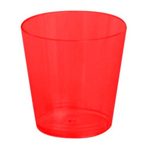Copo Plástico Reforçado Plastilânia 25ml Vermelho - 10 Unidades 1012207