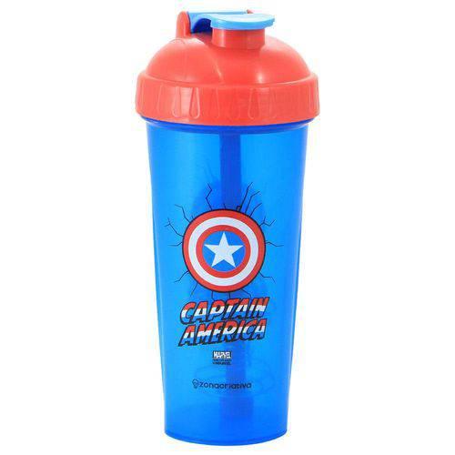 Copo Shaker Fitness 600ml Capitao America Zona Criativa