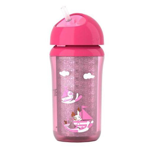 Copo Térmico com Canudo Rosa - BPA Free - 260ml - Philips Avent