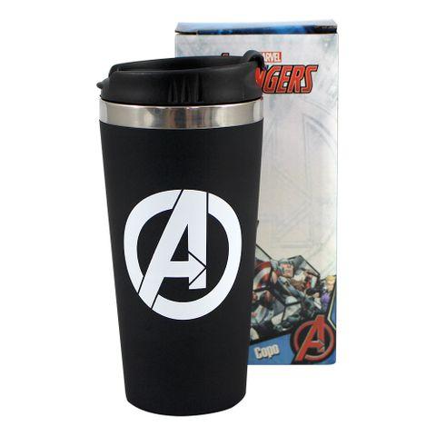 Copo Viagem Avengers Logo Unica