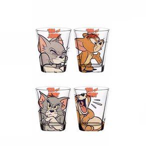 Copos de Shot Tom e Jerry Hanna Barbera - 4 Unidades
