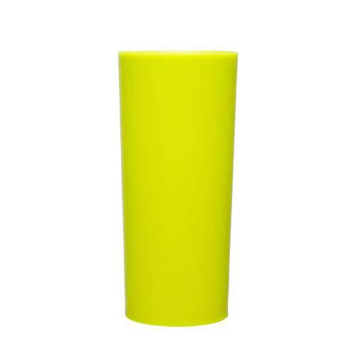 Copos Long Drink 370ml Amarelo Fluorescente 100 Unidades