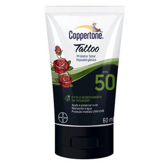 Coppertone Tattoo Loção FPS 50 Bayer - Protetor Solar 60ml