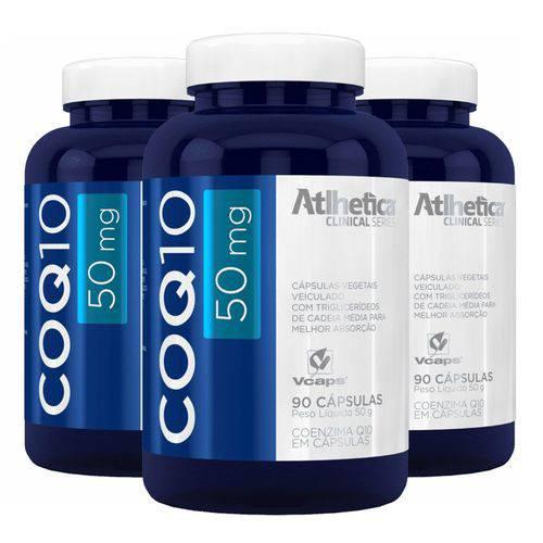 COQ10 Coenzima Q10 50mg - 3 Un de 90 Cápsulas - Atlhetica