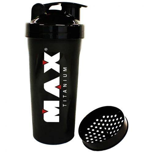 Coqueteleira Preta 900ml - Max Titanium