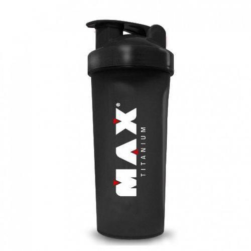 Coqueteleira Shaker Preta 600ml - Max Titanium