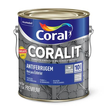 Coral Coralit Antiferrugem Ferrolack 3,6 Litros Branco