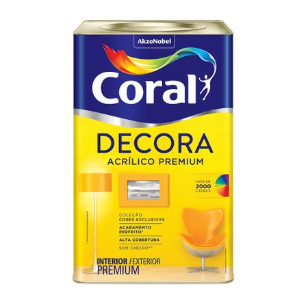 Coral Decora Acrílico Premium Fosco 18 Litros Branco Neve