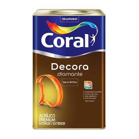 Tinta Coral Decora Acrílico Premium Semi Brilho Branco