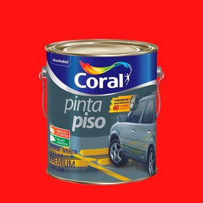 Coral Pinta Piso 3,6 Litros Vermelho