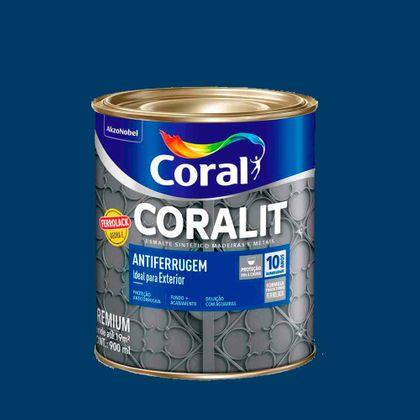 Coralit Esmalte Sintético Antiferrugem Tabaco 900ml Azul Del Rei