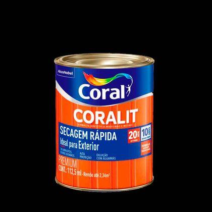 Coralit Secagem Rápida Brilhante 112,5ml Preto