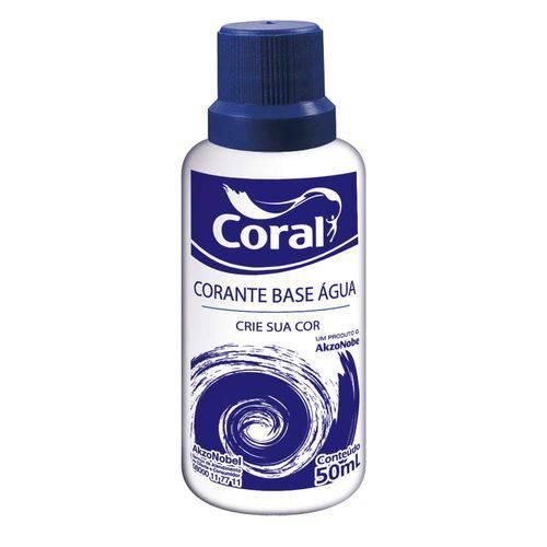 Corante para Tintas Base Água 50ml Laranja Coral