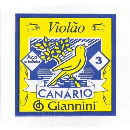Corda Aco Violao C/ Bolinha Geswb3 Giannini 3ª(sol)