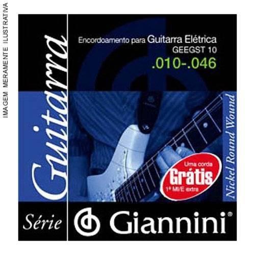 Corda de Aço Canário GEEGST9.1 para Guitarra com Bolinha 1ª Corda Giannini