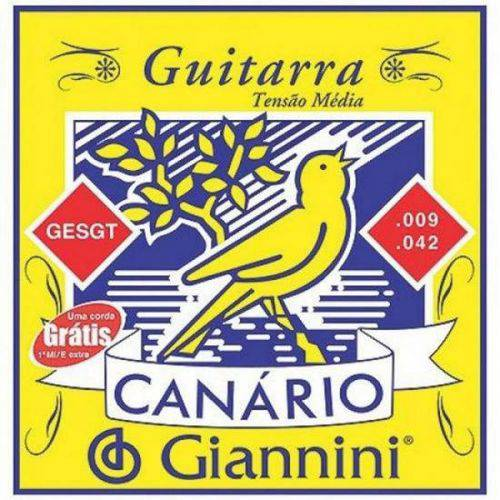 Corda de Aço Canário GEEGST9.3 para Guitarra com Bolinha 3ª Corda GIANNINI