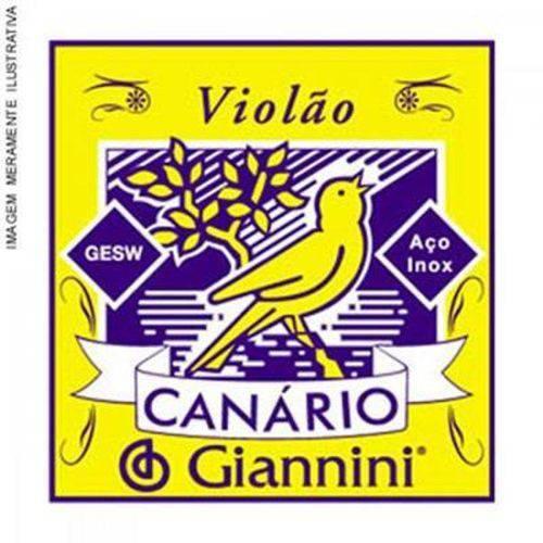 Corda de Aço Canário Gesw6 para Violão com Chenilha 6ª Corda Giannini