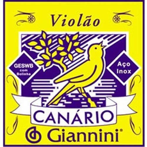 Corda de Aço Canário Geswb2 para Violão com Bolinha 2ª Corda Giannini