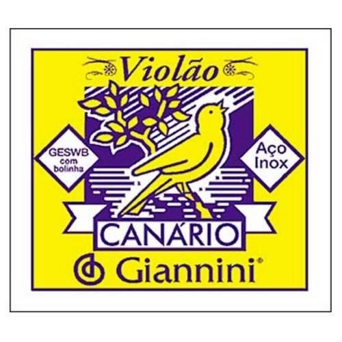 Corda de Aço para Violão 2ª Corda GESWB2 Canário Giannini