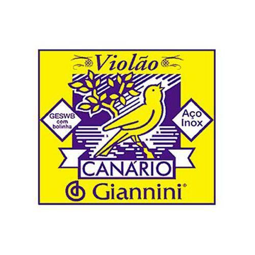 Corda Mi 1ª Giannini Aço para Violão com Bolinha Geswb1 12 Unid