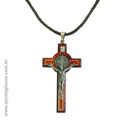 Cordão com Cruz de São Bento - 7 Cm   SJO Artigos Religiosos