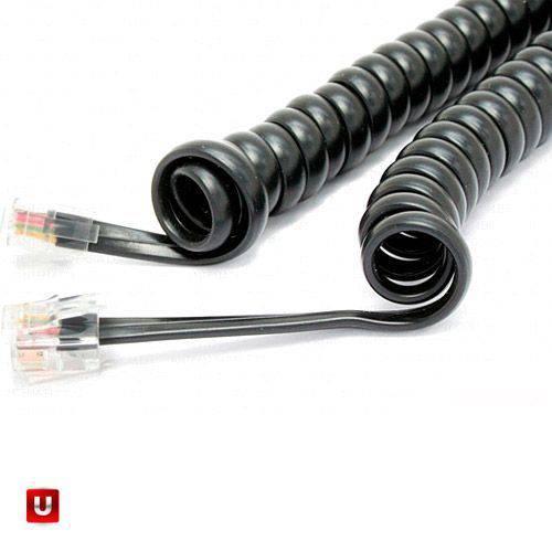 Cordão Espiral P/ Monofone 1,70m Preto - Dantas Telecom
