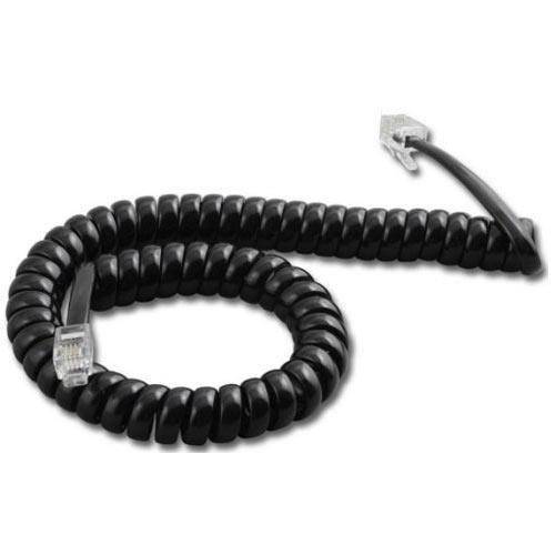 Cordão Espiral para Monofone 1,70m Preto - Dantas
