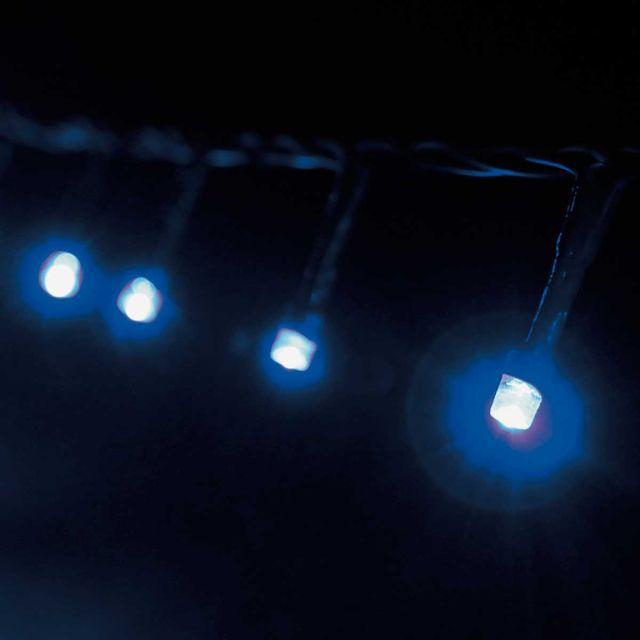 Cordão Luminoso 96 Leds Azul 8 Funções 220v Taschibra Azul