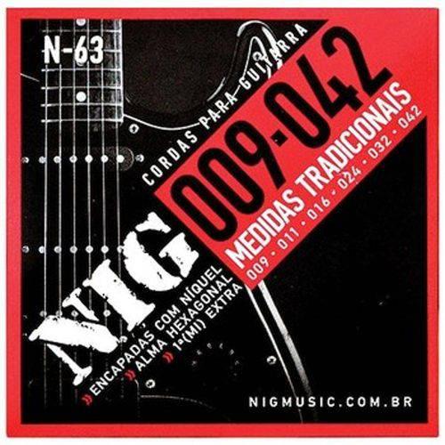 "Cordas para Guitarra .009 / .042"" Tradicional N63"