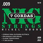 """Cordas para Guitarra Elétrica de 7 Cordas 009""""-054"""" - Nig Strings"""