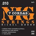 """Cordas para Guitarra Elétrica de 7 Cordas 010""""-056"""" - Nig Strings"""