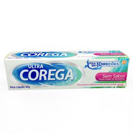 Corega Ultra Creme Fixador para Dentaduras Sem Sabor 12 Horas 40g