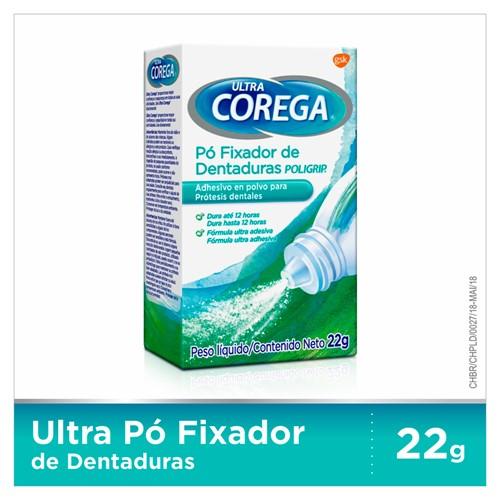 Corega Ultra Pó Fixador de Dentadura 22g