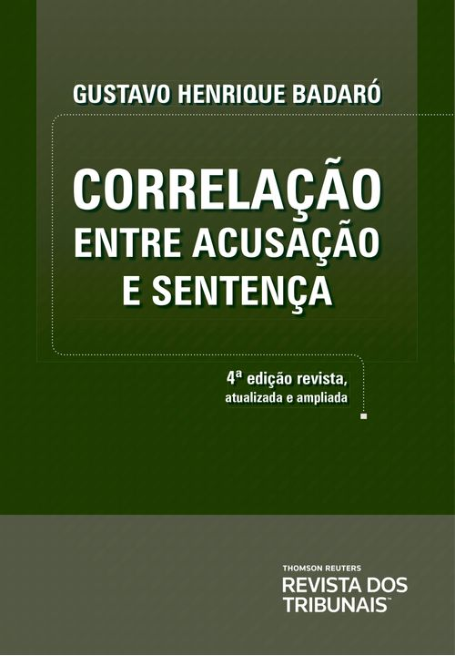 Correlação Entre Acusação e Sentença - 4ª Edição