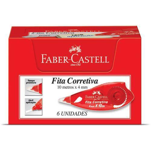 Corretivo em Fita 10Mx4Mm Cx.C/06 Faber-Castell