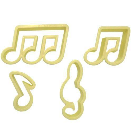 Cortador Blue Star Notas Musicais com 4 Peças