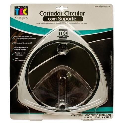 Cortador Circular com Suporte Círculos de 2,4cm Até 15,3cm Di106 - Toke e Crie