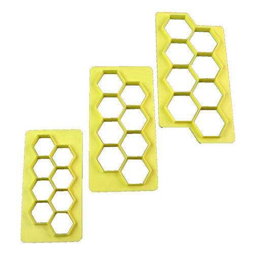 Cortador Geometrico Hexagono - 3 Pcs