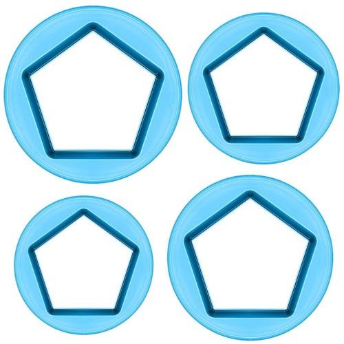 Cortador Pentagonos Médio com 4 Peças - Blue Star