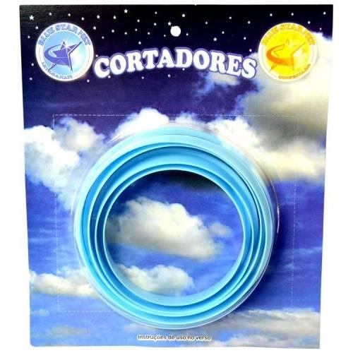 Cortador Redondo Médio com 4 Peças Blue Star