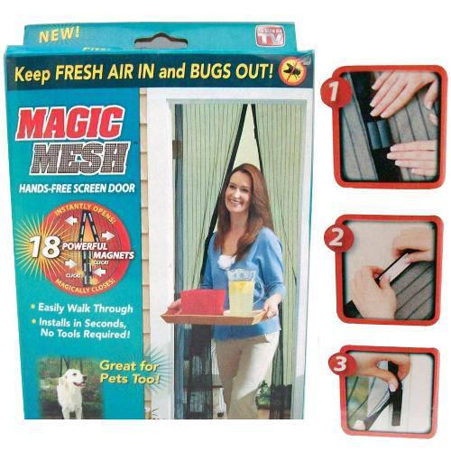 Cortina Mosquiteiro Tela Protetora para Insetos Mosquito Magic Mesh (Bsl-Mosq-1)